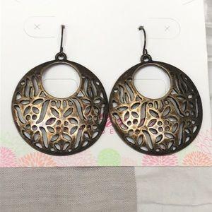 EUC - Premier Designs Old World Brass Earrings